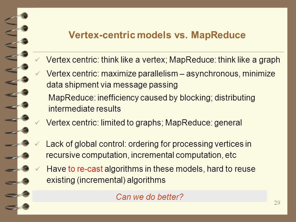 29 Vertex-centric models vs.