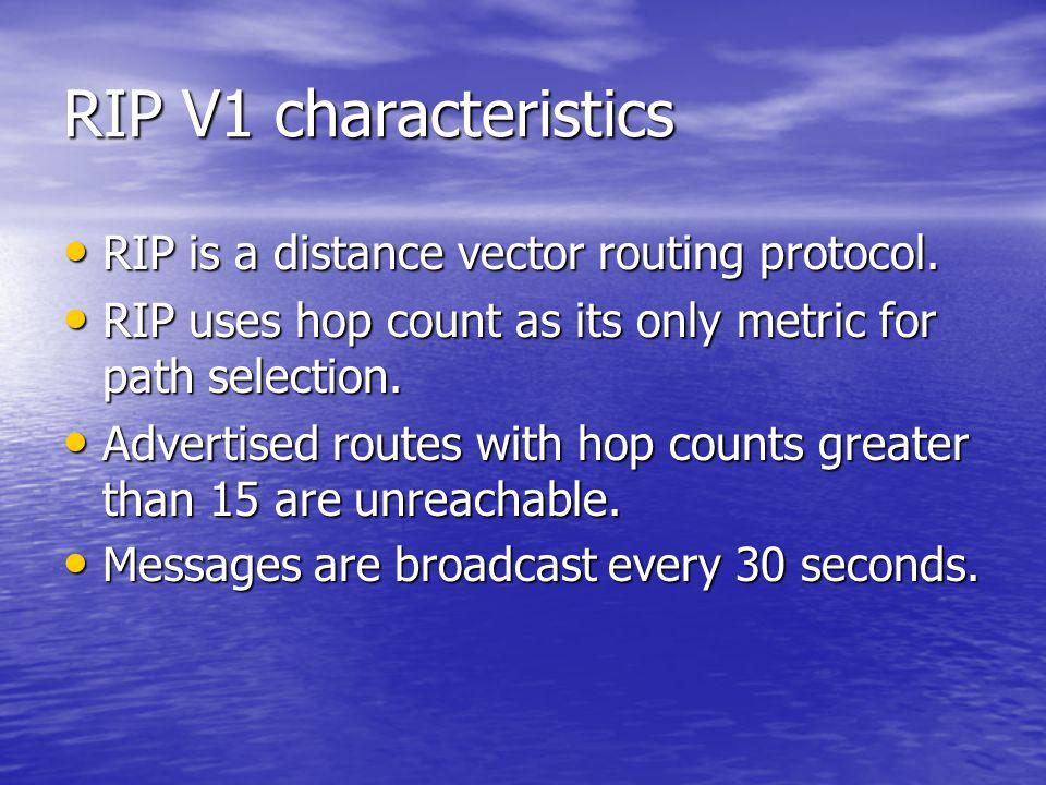 Basic RIP Configuration : Verifying RIP (3/8)