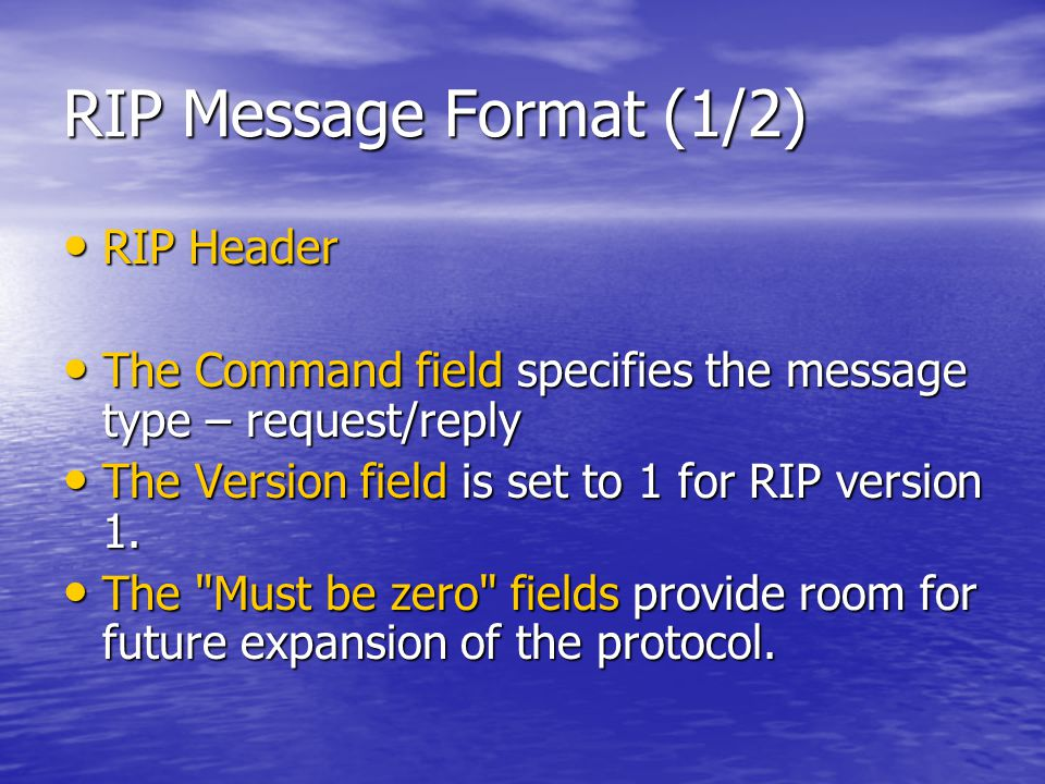 Basic RIP Configuration : Verifying RIP (5/8)