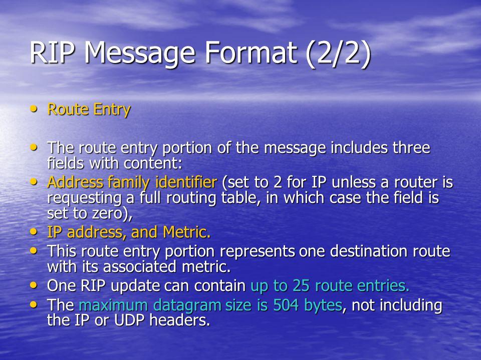 Basic RIP Configuration : Verifying RIP (7/8)