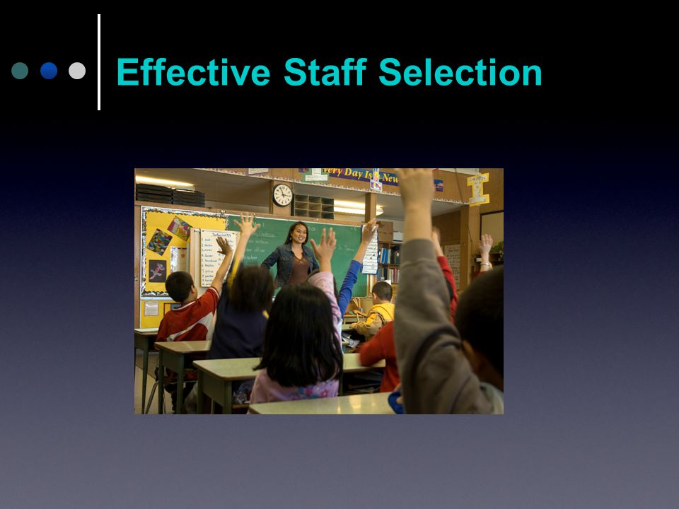 Effective Staff Selection