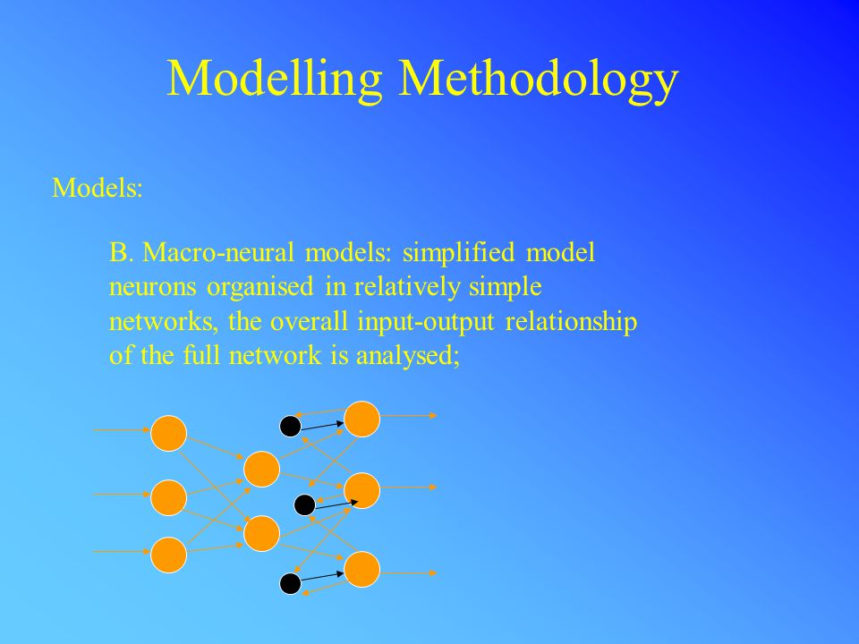 Conclusions Neuron and neural network models can capture important aspects of the functioning of the nervous system.