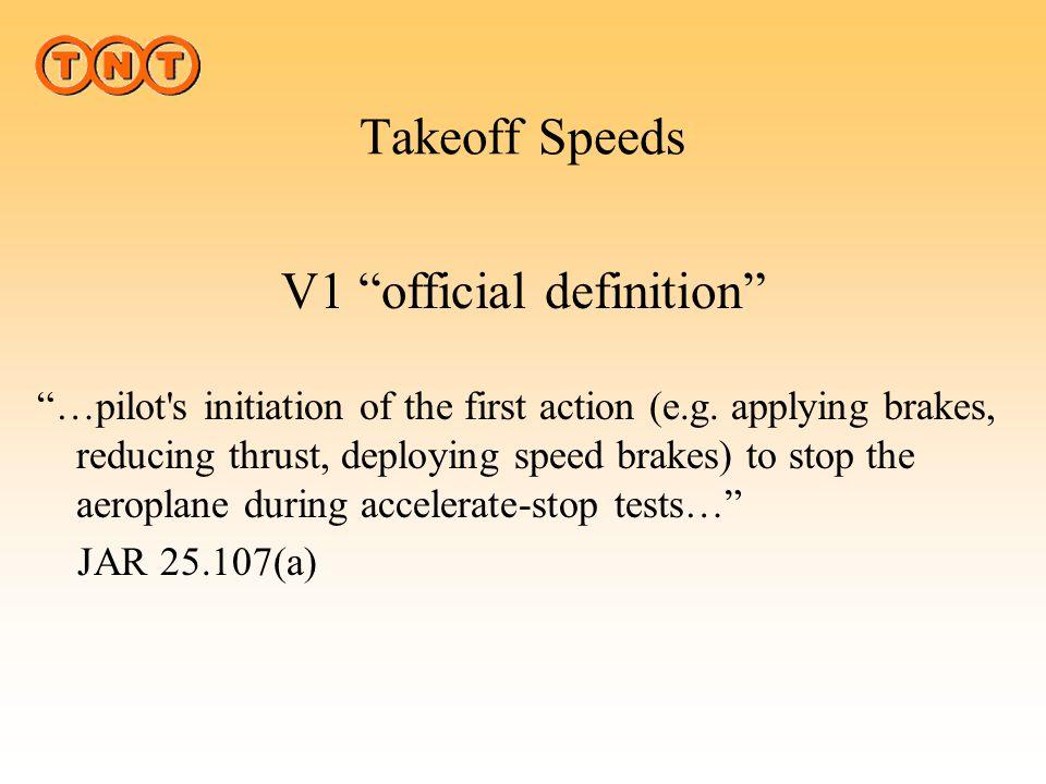 Takeoff Speeds V1V1