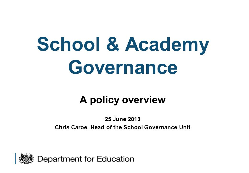 High quality governance is crucial  To children's education and life chances  To holding heads and schools to account  To making the most of dedicated volunteers  To the future of schools 1 Yet Ofsted find too many schools have mediocre governance
