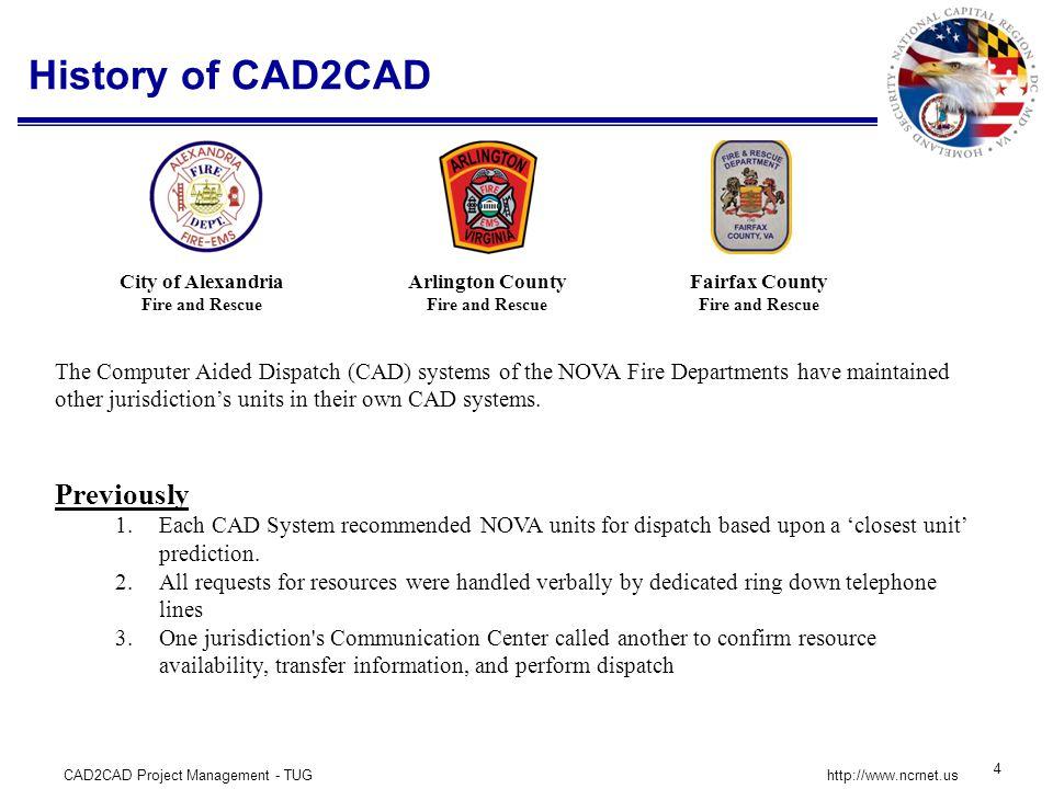 CAD2CAD Project Management - TUG 5 http://www.ncrnet.us Program Components DATA EXCHANGE HUB NCRNet