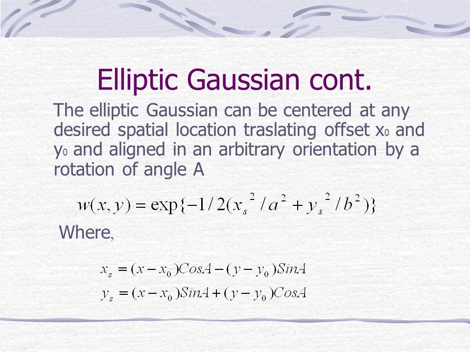 Elliptic Gaussian cont.