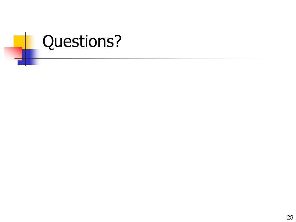 28 Questions?