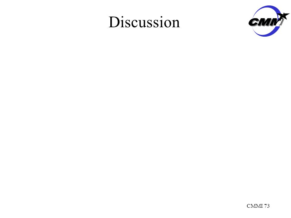 CMMI 73 Discussion