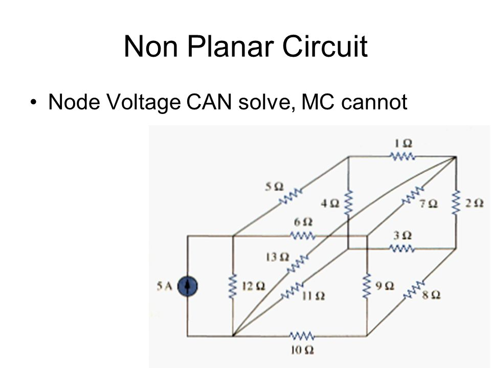 Dependent Sources all types possible adds another unknown (ix) but ix can be expressed in terms of node voltages eventually removed from node equations not difficult to handle