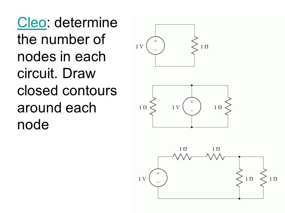1) Cleo:Problem 1 Write 1 NV eq at V2 and solveProblem 1