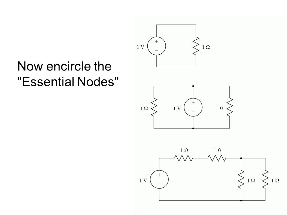 Problem 3Problem 3 Find the indicated currents; use NV I A = -27 μA, I B = -133 μA, I C = 17.1 μA Only 1 unknown node
