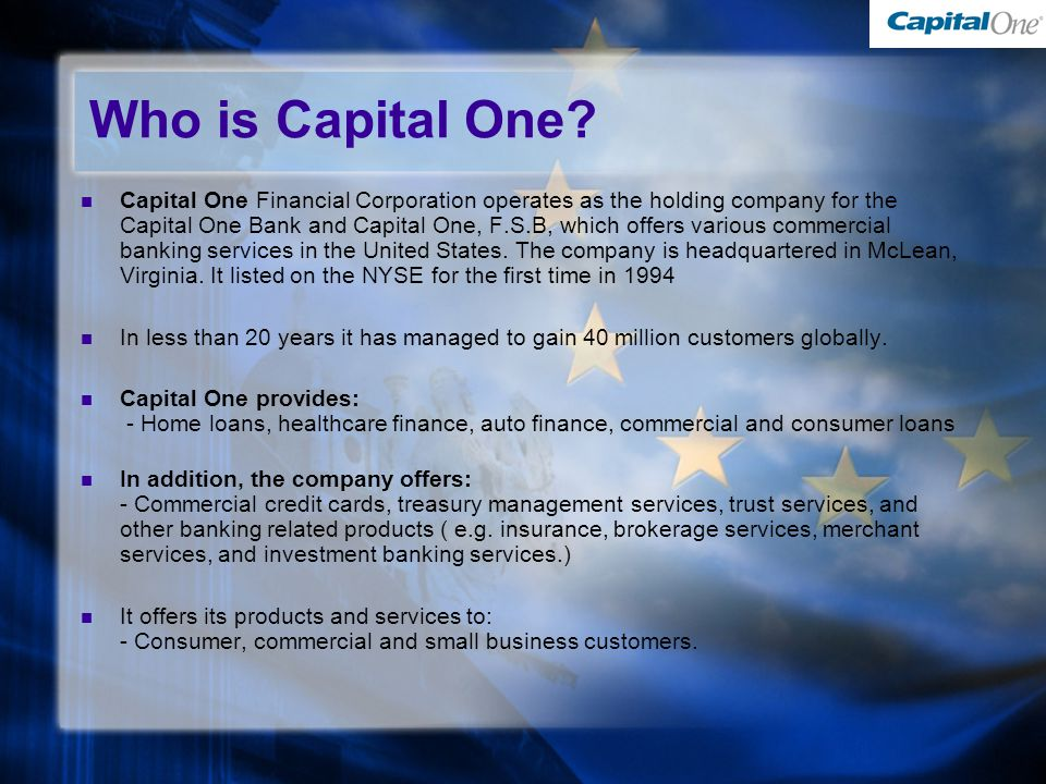 Who is Capital One.
