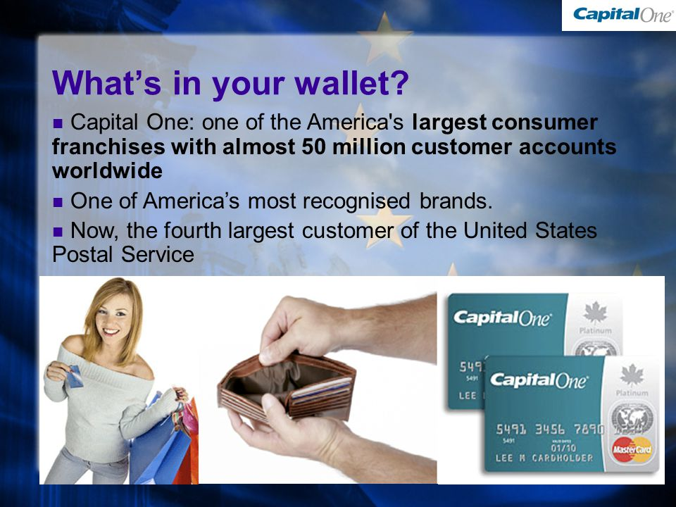 What's in your wallet.