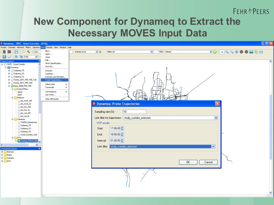 New Component for Dynameq to Extract the Necessary MOVES Input Data