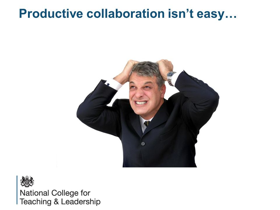 Productive collaboration isn't easy…