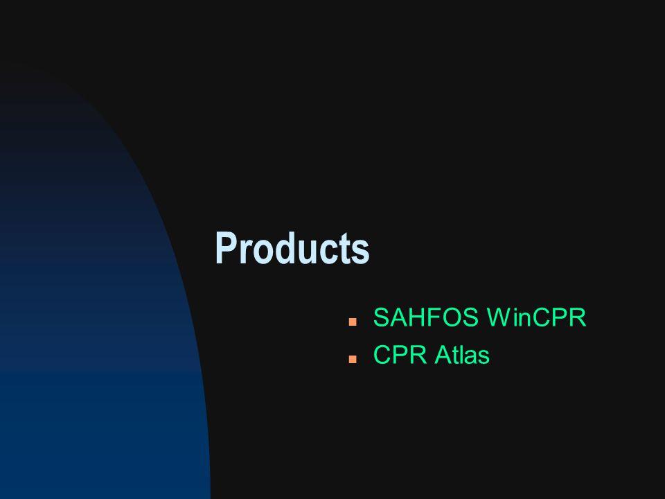 Products n SAHFOS WinCPR n CPR Atlas