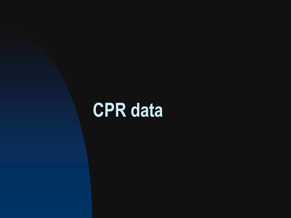 CPR data
