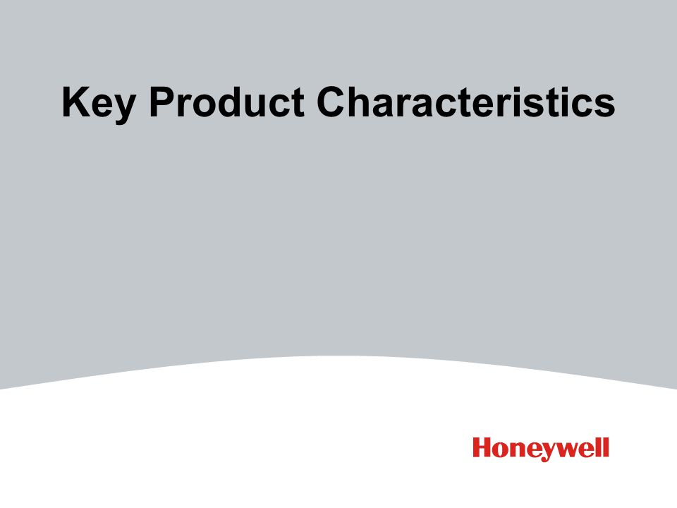 Key Product Characteristics
