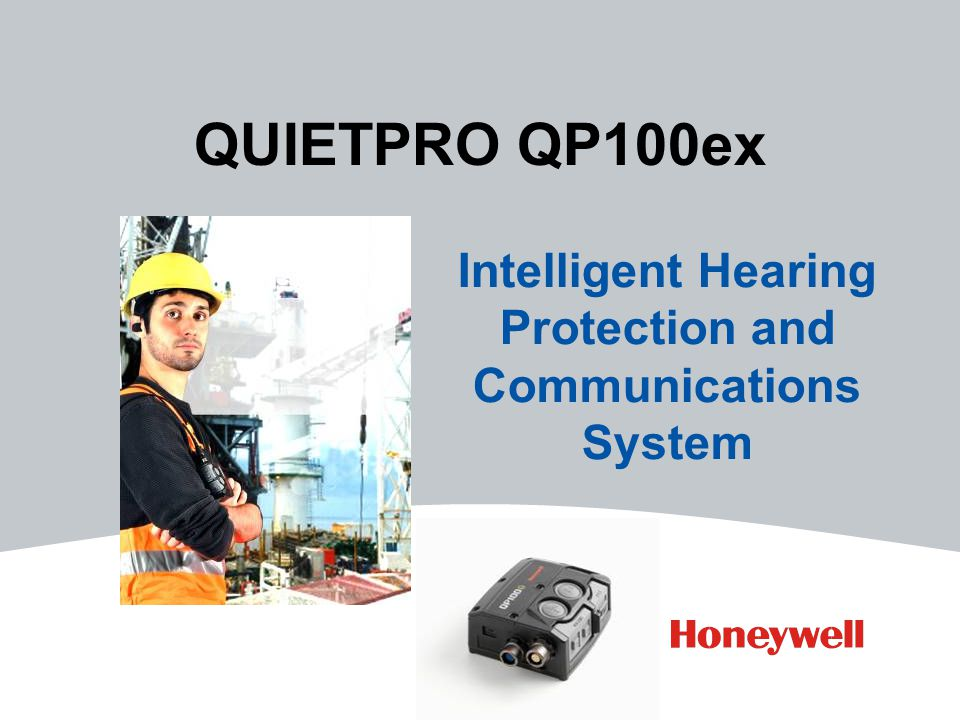 QUIETPRO QP100ex Intelligent Hearing Protection and Communications System
