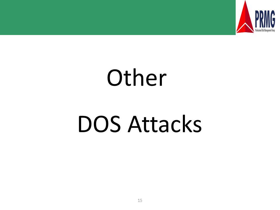 15 Other DOS Attacks