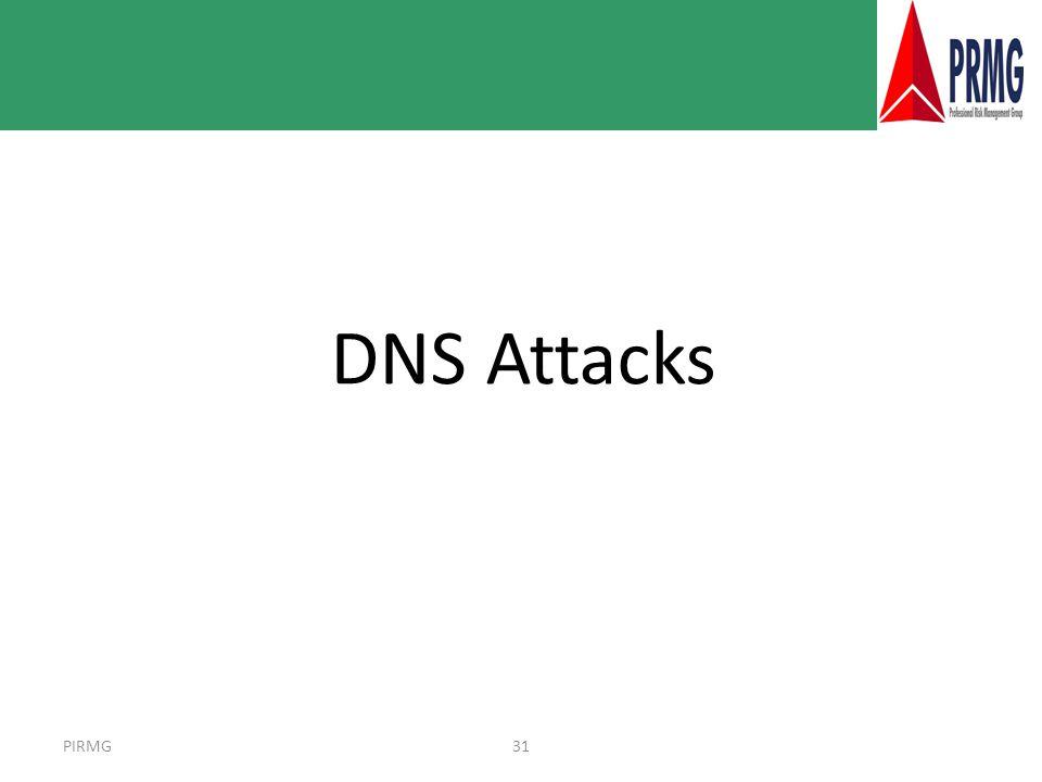 PIRMG31 DNS Attacks