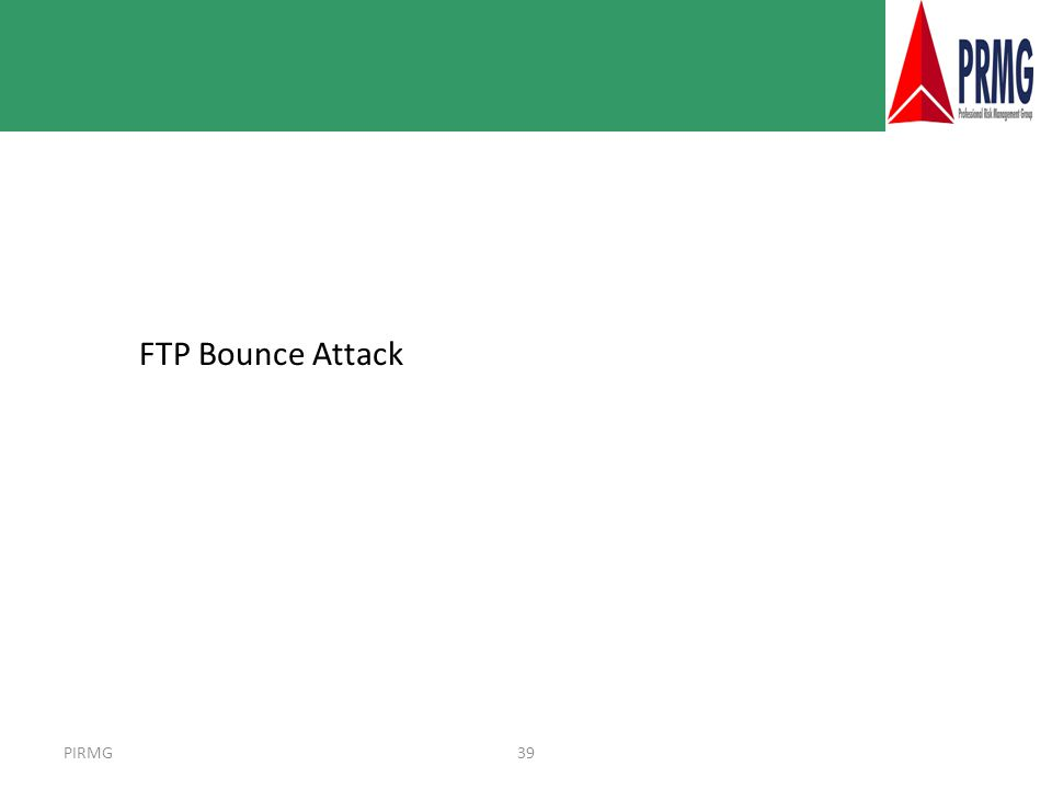 PIRMG39 FTP Bounce Attack