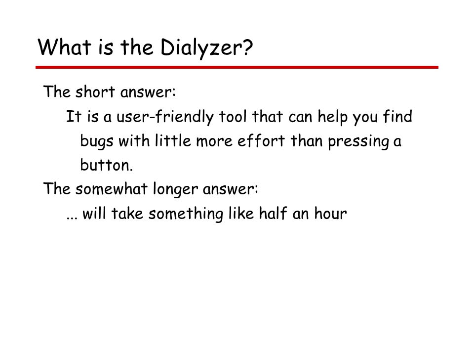 What is the Dialyzer.