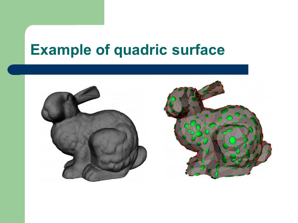 Example of quadric surface