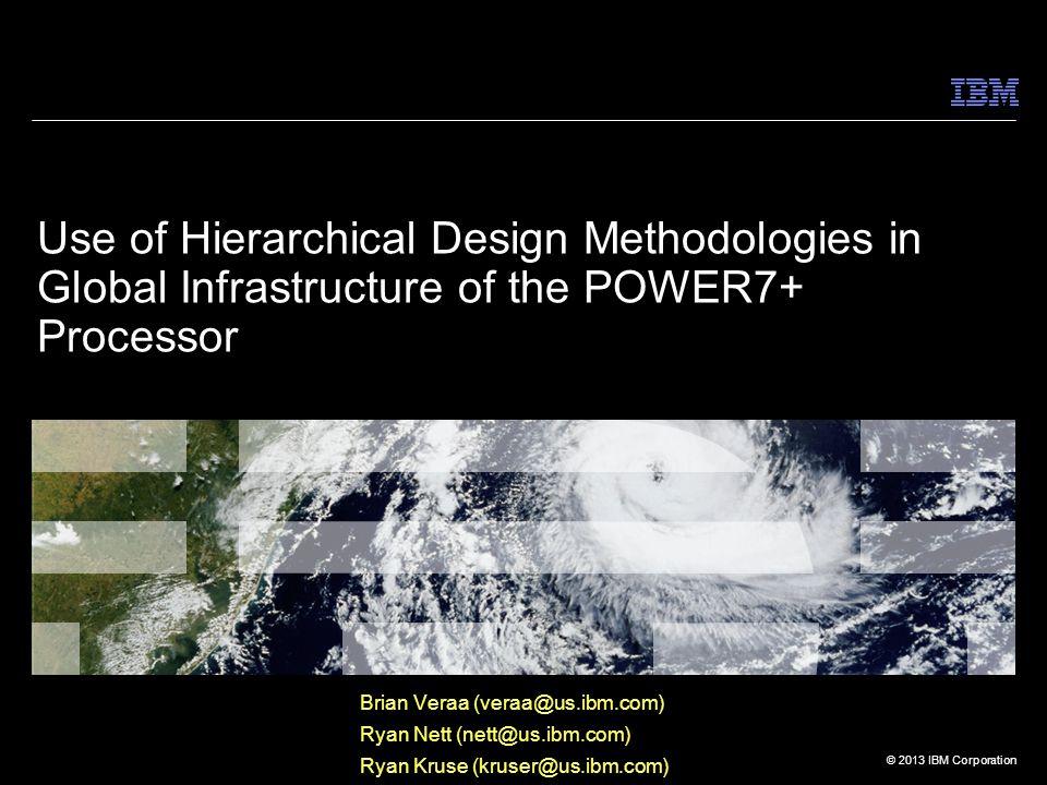 © 2013 IBM Corporation Floorplanning Around G.I.Content  G.I.
