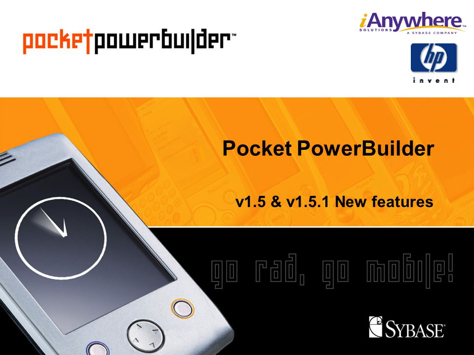 Pocket PowerBuilder v1.5 & v1.5.1 New features