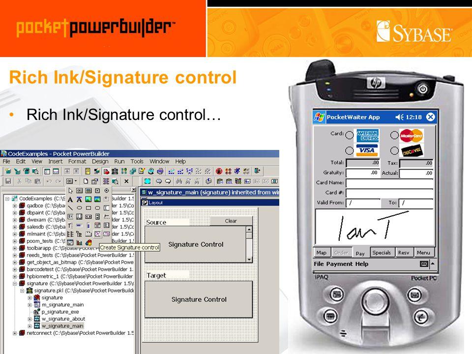 Rich Ink/Signature control Rich Ink/Signature control…