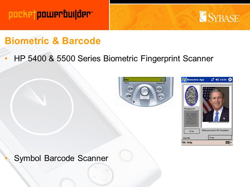 Biometric & Barcode HP 5400 & 5500 Series Biometric Fingerprint Scanner Symbol Barcode Scanner