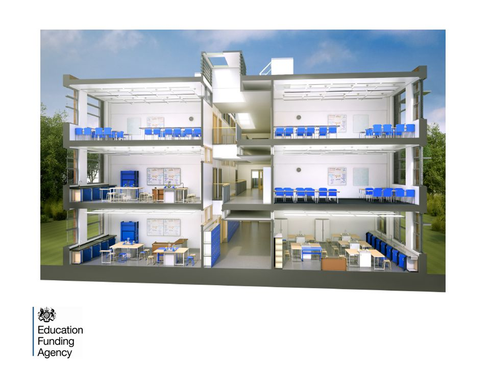 1200 place 11-16 Secondary school finger block with a Music and Sport Specialism - Ground floor plan EFA baseline designs