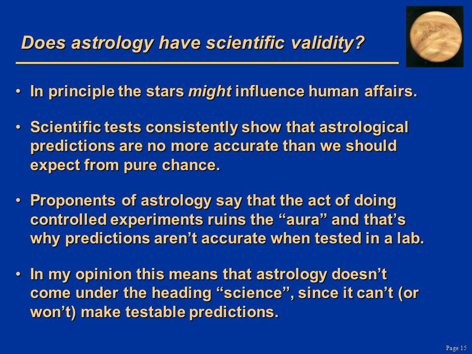 Page 15 Does astrology have scientific validity.