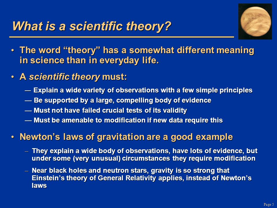 Page 5 What is a scientific theory.