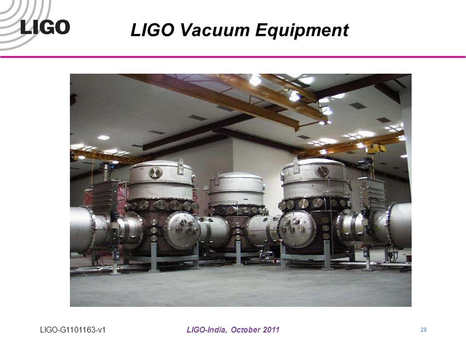 LIGO-India, October 2011 28 LIGO Vacuum Equipment LIGO-G1101163-v1