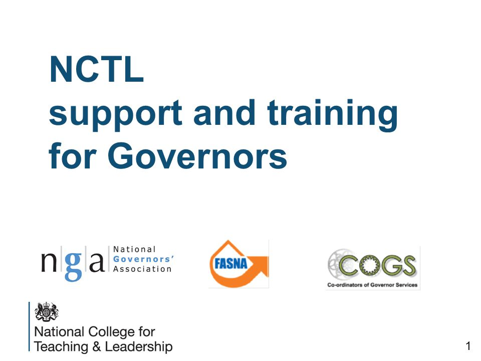 NCTL support and training for Governors 1