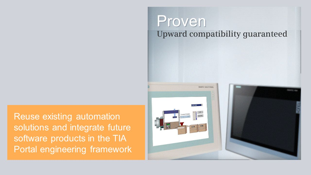 Reuse existing automation solutions and integrate future software products in the TIA Portal engineering framework