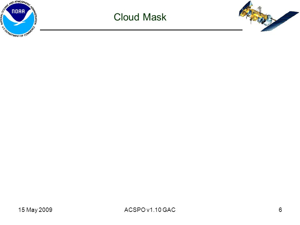 15 May 2009ACSPO v1.10 GAC6 Cloud Mask