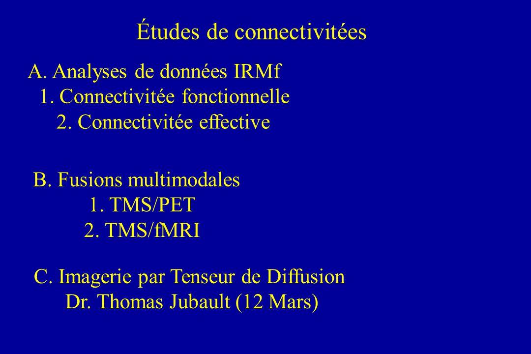Études de connectivitées A. Analyses de données IRMf 1.