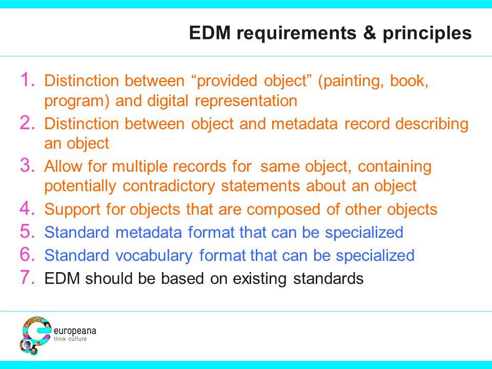 EDM requirements & principles 1.