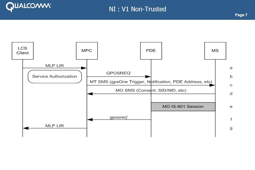 Page 8 NI : V2 Non-Trusted Single Fix