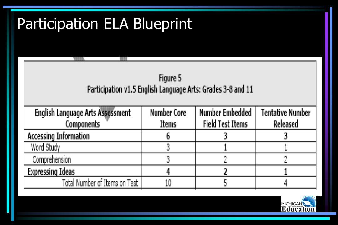 Participation ELA Blueprint