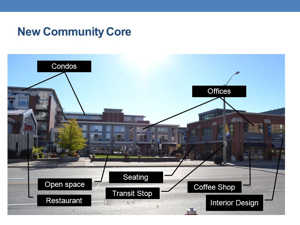 Restaurant Open space Seating Coffee Shop Interior Design Offices Condos Transit Stop New Community Core