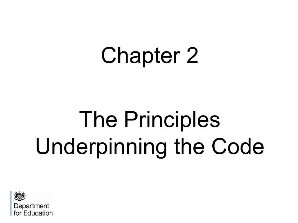 Chapter 2 The Principles Underpinning the Code