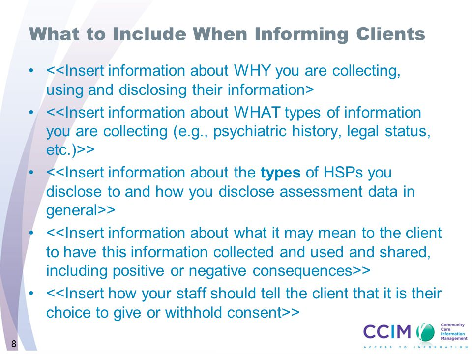 8 What to Include When Informing Clients >