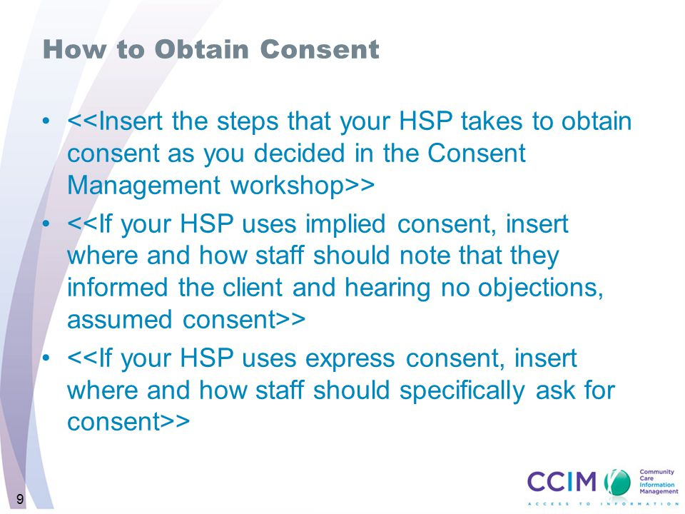 9 How to Obtain Consent >