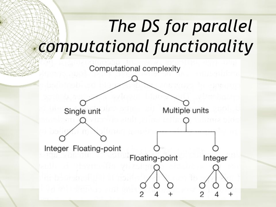The DS for parallel computational functionality