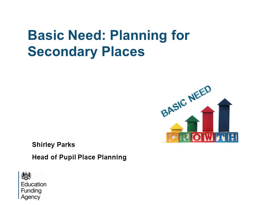 Basic Need: Planning for Secondary Places Shirley Parks Head of Pupil Place Planning