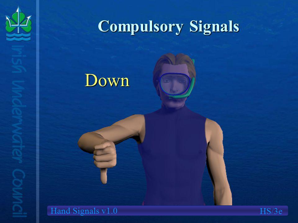 Hand Signals v1.0 Compulsory Signals Down HS/3e